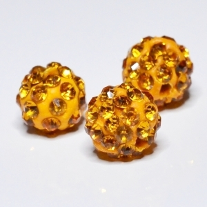 Shamballa 10mm koraliki - orange 11