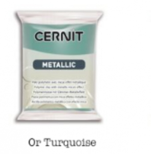 Cernit Metallic - 054- GOLD BLUE